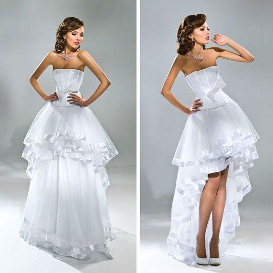 Платье с отстегивающейся юбкой пышной формы