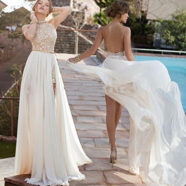 Платья для свадьбы с полупрозрачной спиной