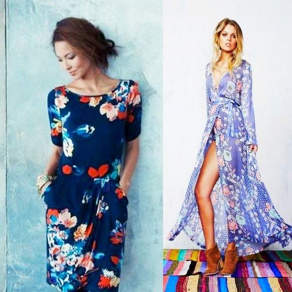 Практичные летние платья 2018 года с цветочным принтом