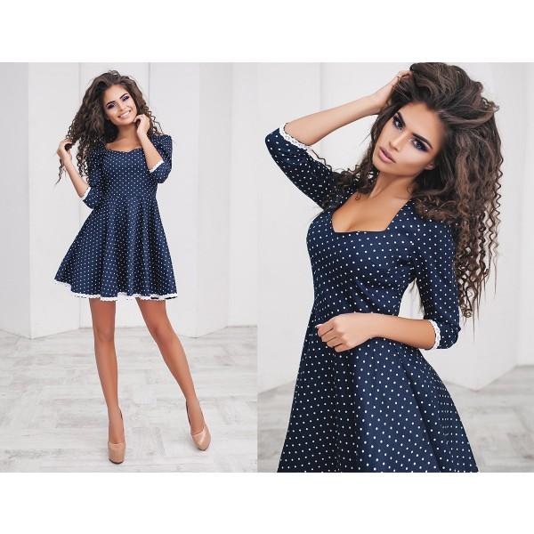 Прекрасное платье в горошек