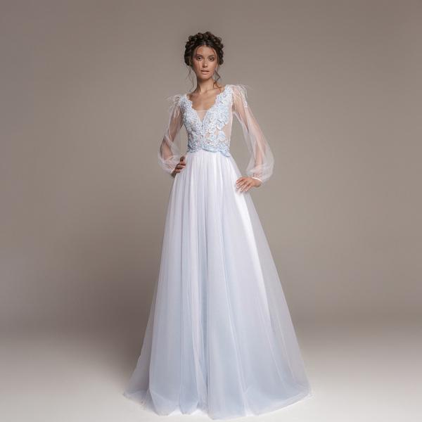 Простое утонченное платье для свадьбы