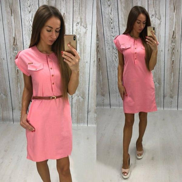 Розовый цвет платья
