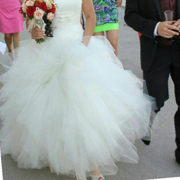 Шикарное свадебное платье -трансформер