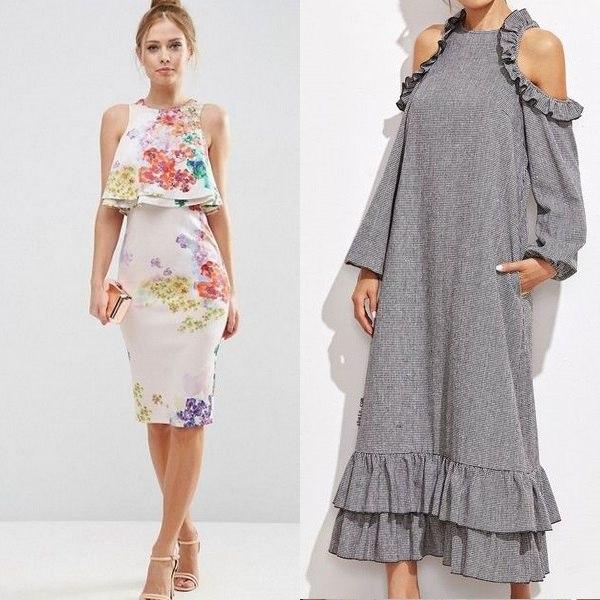 14421a40aef Варианты воланов и тканей для украшения женских летних платьев