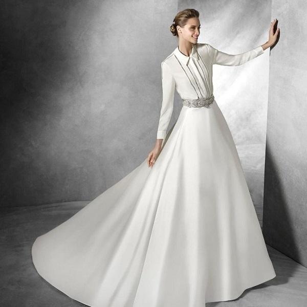 Белое платье-рубашка для невесты