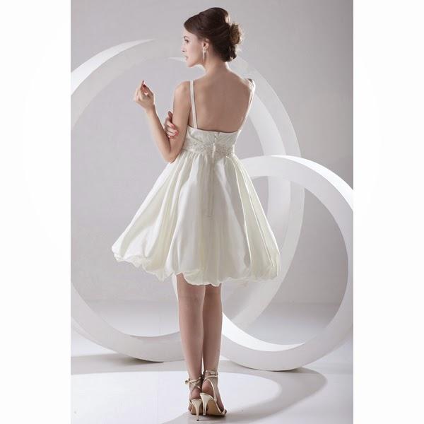 Это элегантное короткое свадебное платье