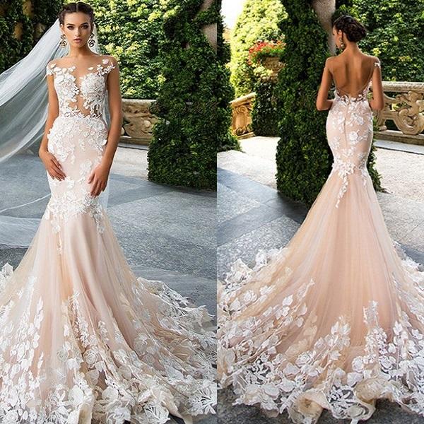 Фото свадебного платья «Русалка»