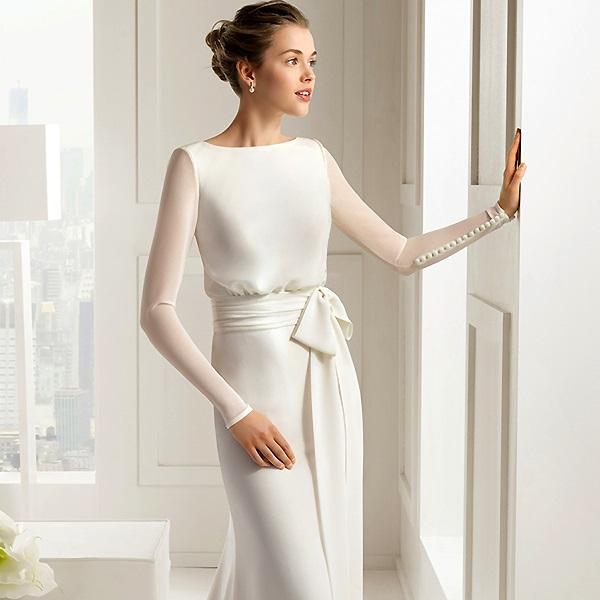 Изысканное белое свадебное платье
