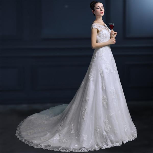 Короткие рукава свадебного наряда