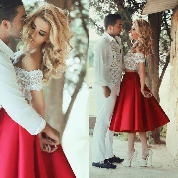 Красный цвет свадебного платья