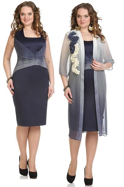 Летние шифоновые платья также неплохо подходят крупным женщинам