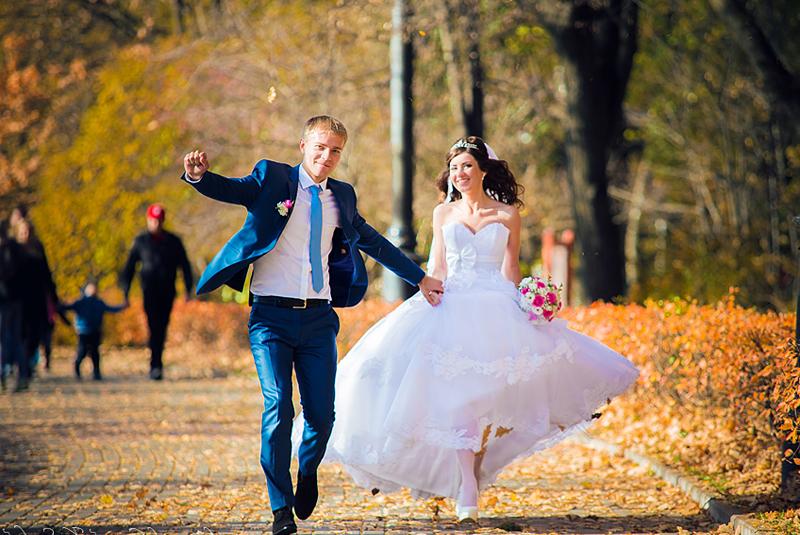 Осенняя свадебная фотосессия