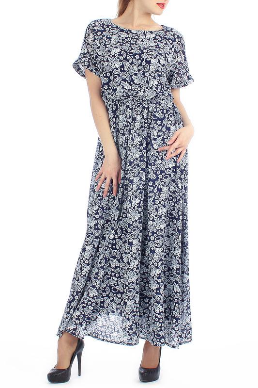 Платье шифоновое серого цвета