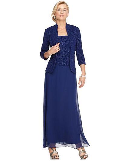 Платья из шифона для женщин 50 лет синего цвета