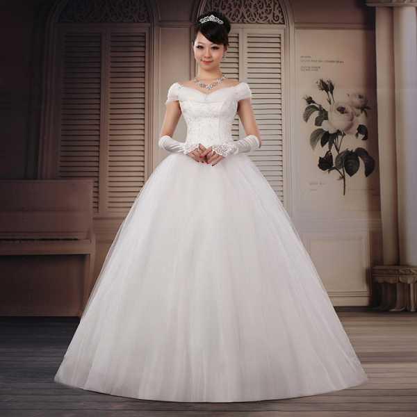 Пример белого платья для свадьбы