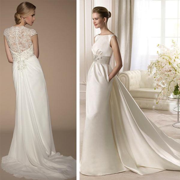 Пример платья невесты со шлейфом