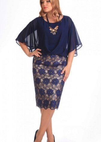 Синее красивое платье