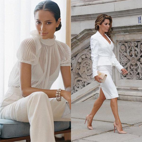 Стильные белые женские костюмы