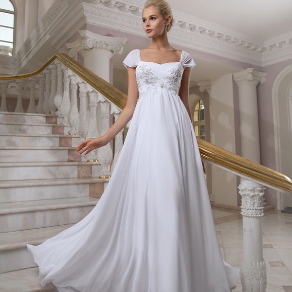 Удобное свадебное платье в греческом стиле