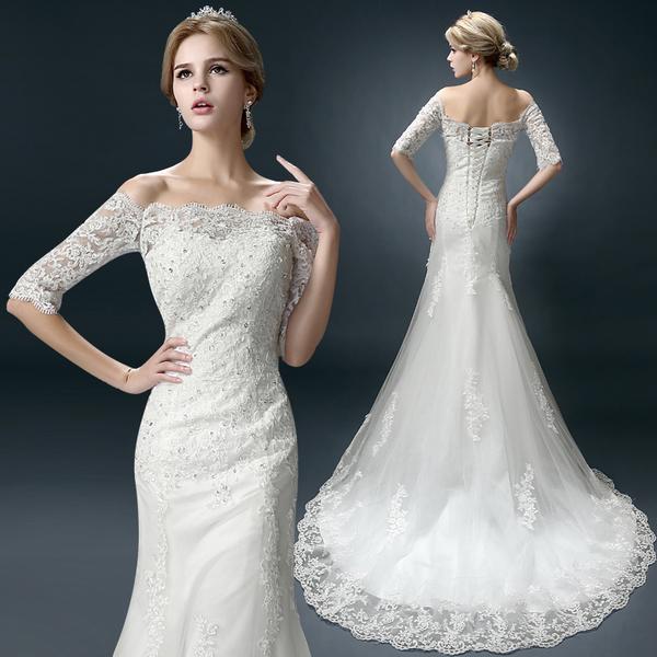 Выбираем свадебное платье с блестками