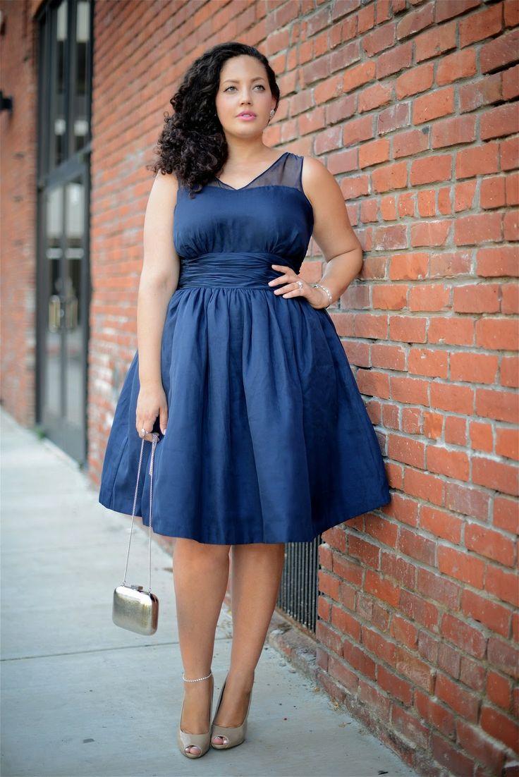 Платье-колокольчик для полных