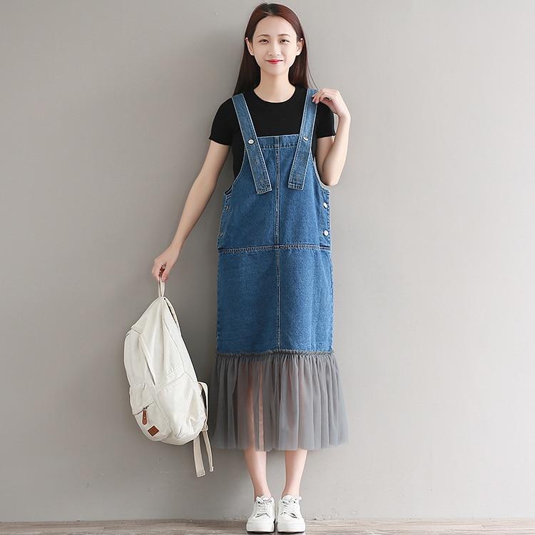 Джинсовое удлиненное платье