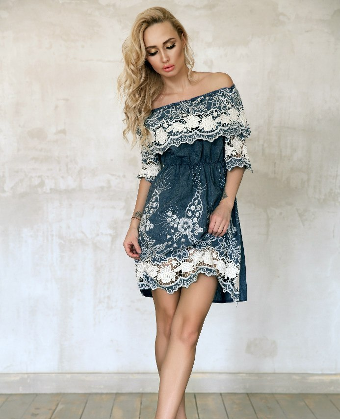 Letnee-plate-s-volanom-iz-kruzheva Модный тренд весна-лето 2019-2020: платья с открытыми плечами и блузы с открытыми плечами