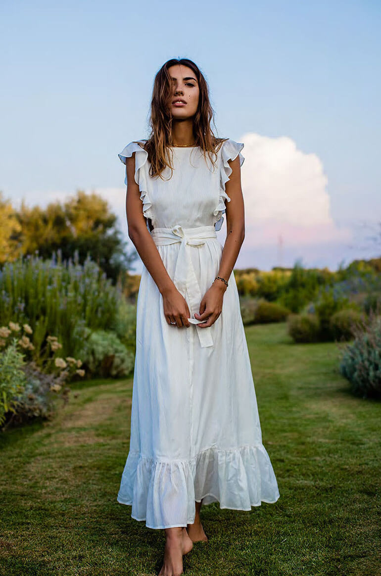 40c57122af8 Белое летнее платье