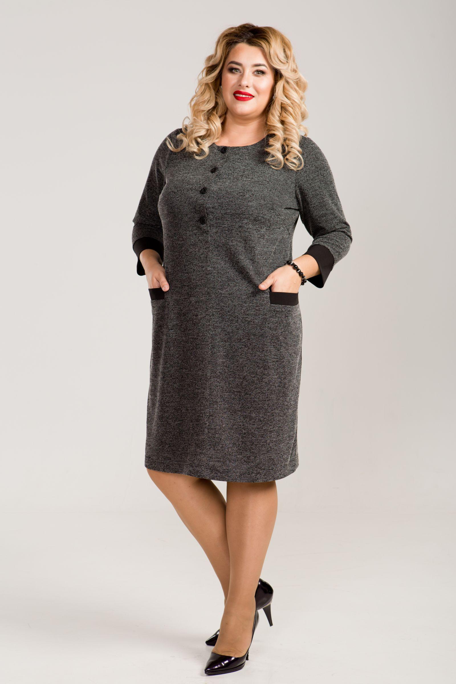 Полуприлегающее платье для женщин