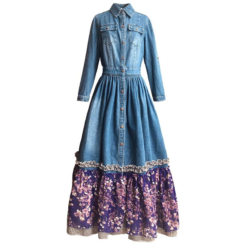 Удлинение джинсового платья