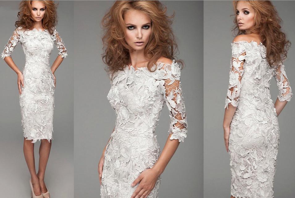 64cbd93bdae Лучшие модели белых кружевных платьев