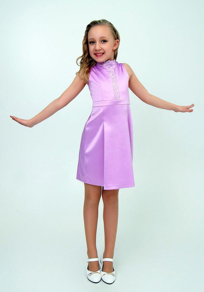 лиловое платье для девочки