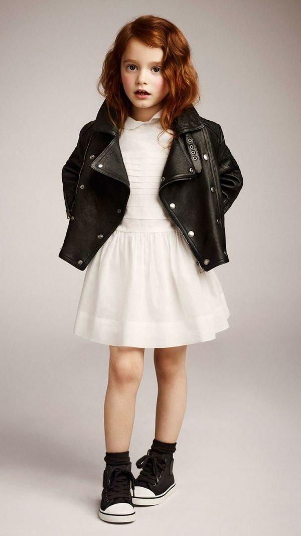 модная кожаная куртка для девочек