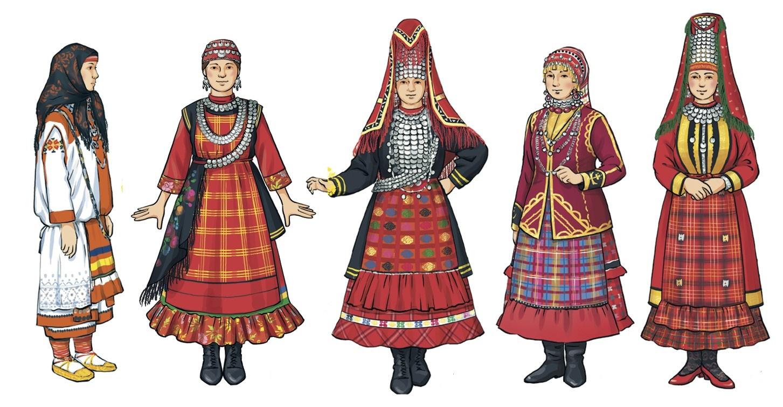 Картинка национальный костюм удмуртов