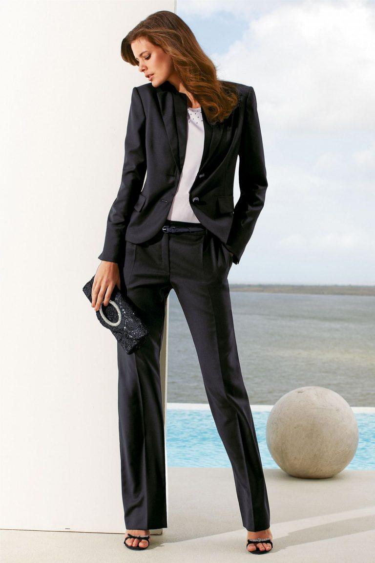 бизнес леди в брюках женщины падаунге