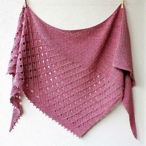 Ажурный платок спицами для начинающих